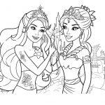 Barbie Mermaids Coloring Page Printable