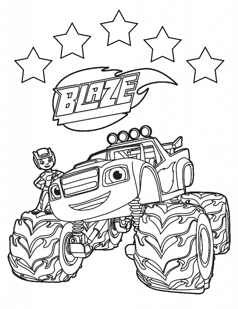 Blaze Coloring Page
