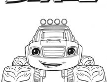 Blaze Coloring Pages