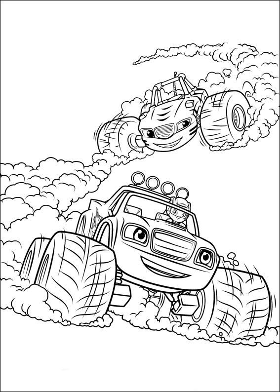 Blaze and the Monster Machines Coloring Page