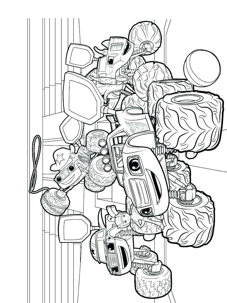 Blaze and the Monster Machines Printable Coloring Page