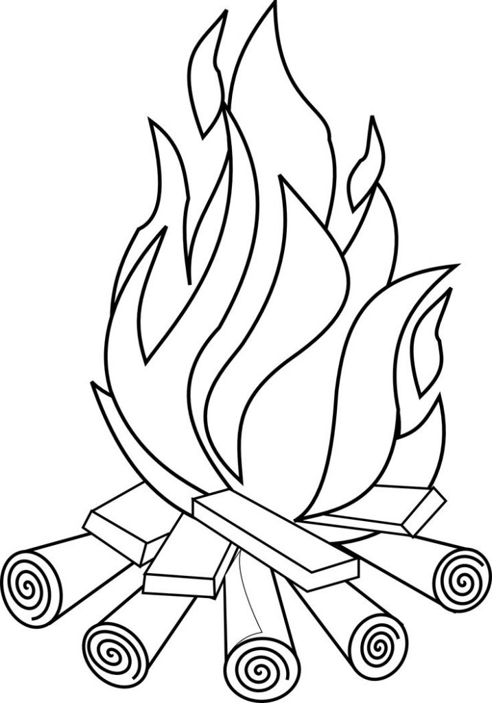 Bonfire Coloring Pages
