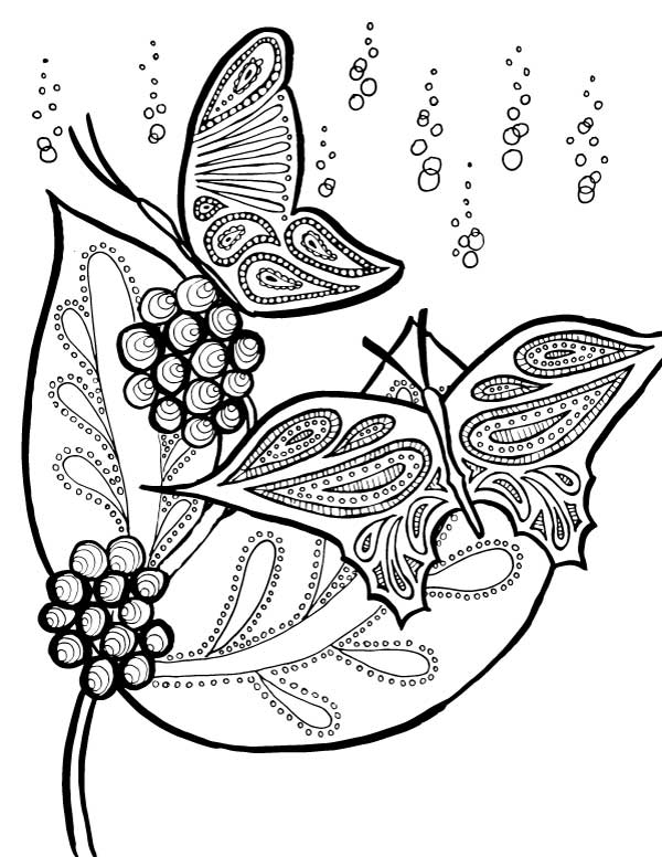 Butterfly Printable Coloring Page for Adults