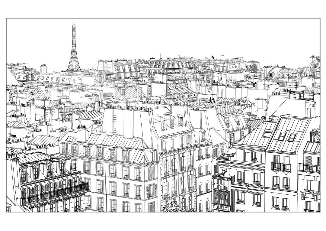 City coloring pages paris