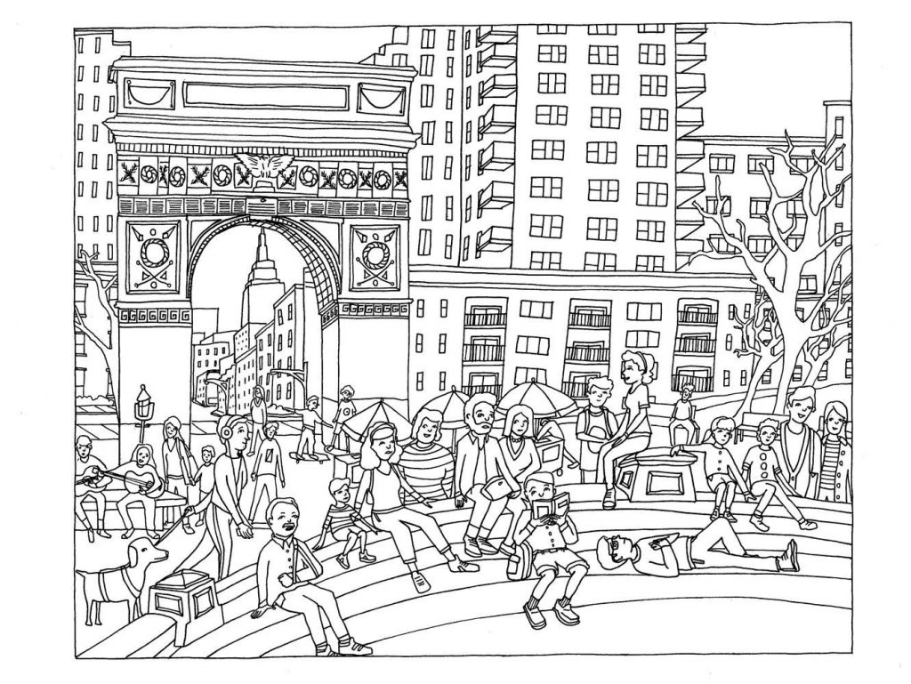 City People Coloring Pages