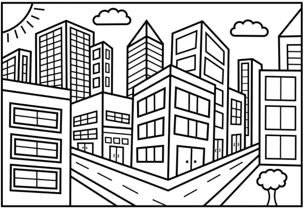 City Coloring Pages Best Coloring Pages For Kids