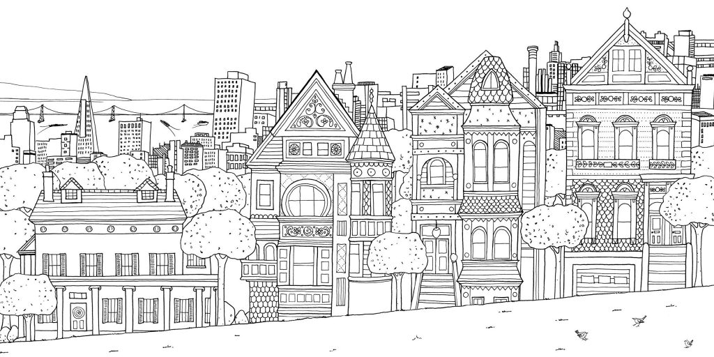 City Printable Coloring Pages