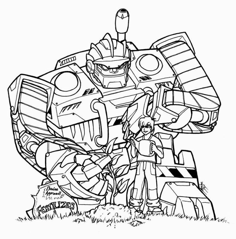 Cool Rescue Bots Coloring Pages