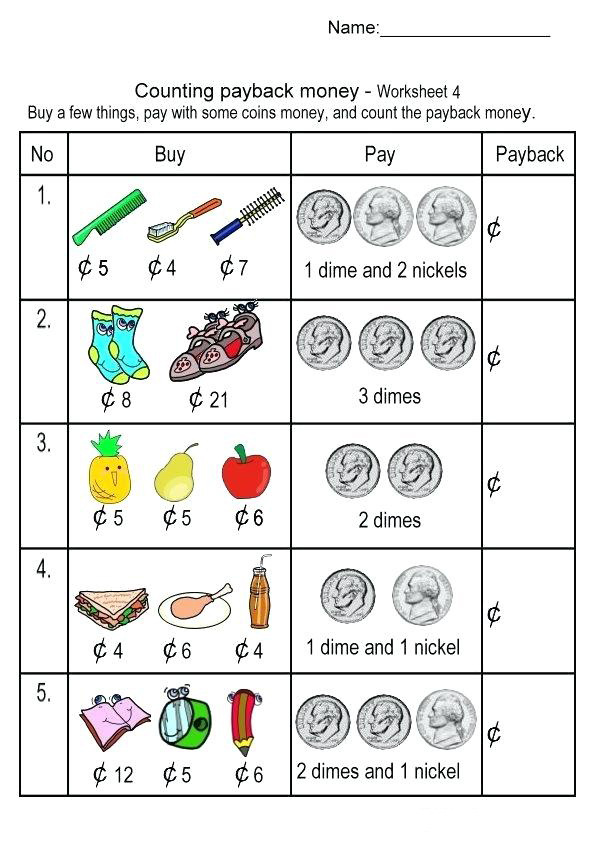 Counting 2nd Grade Money Worksheets