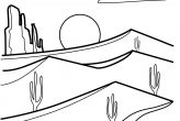 Desert Sunrise Coloring Pages