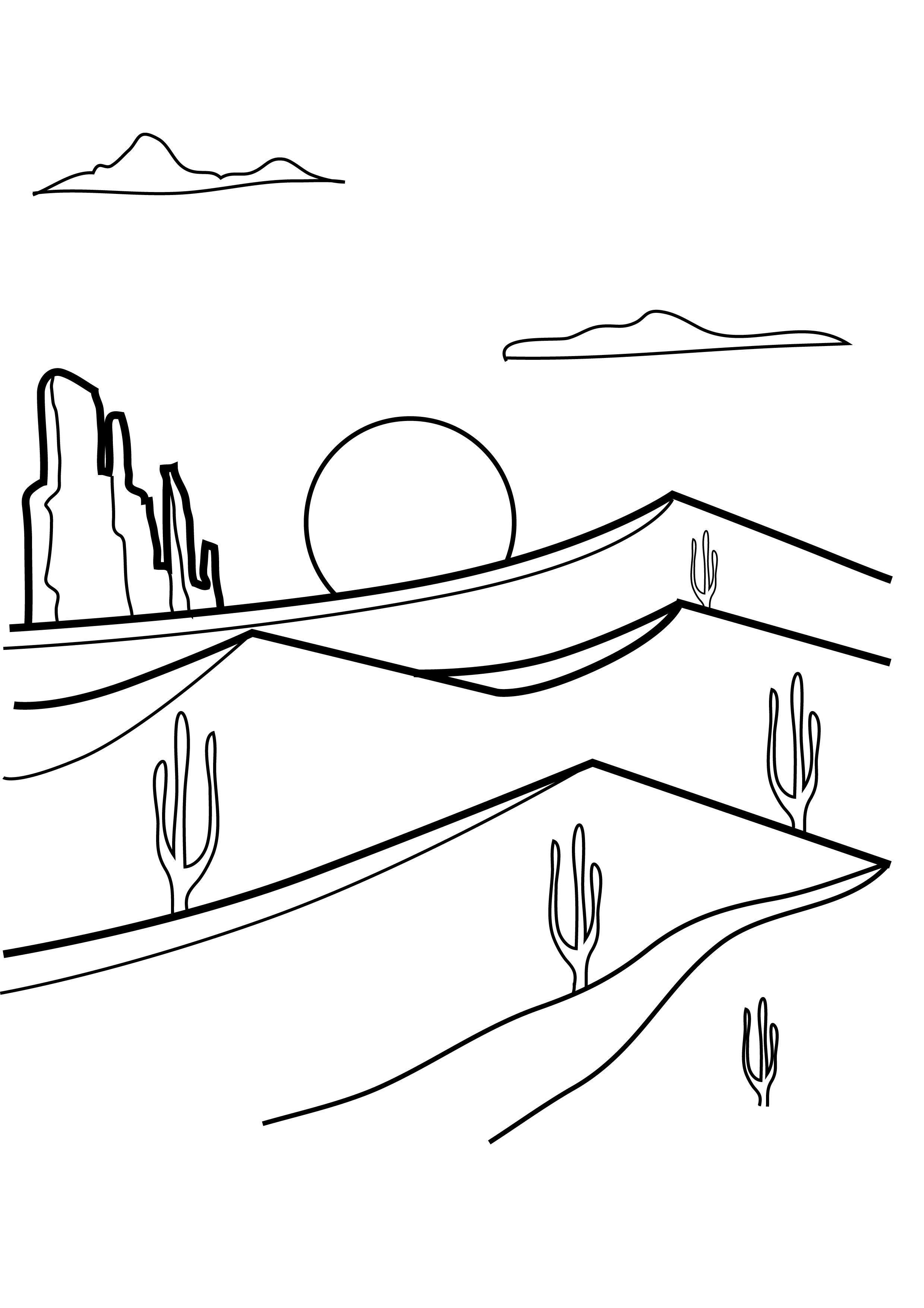 Desert Coloring Pages Best Coloring Pages For Kids