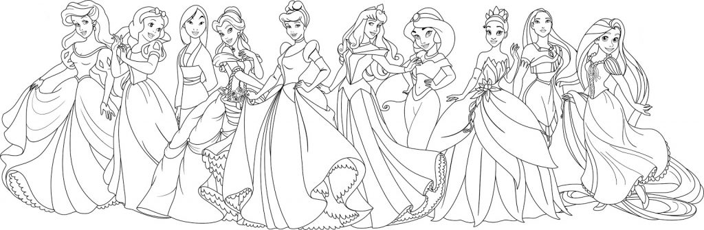 Disney Princess Coloring Pages for Adults