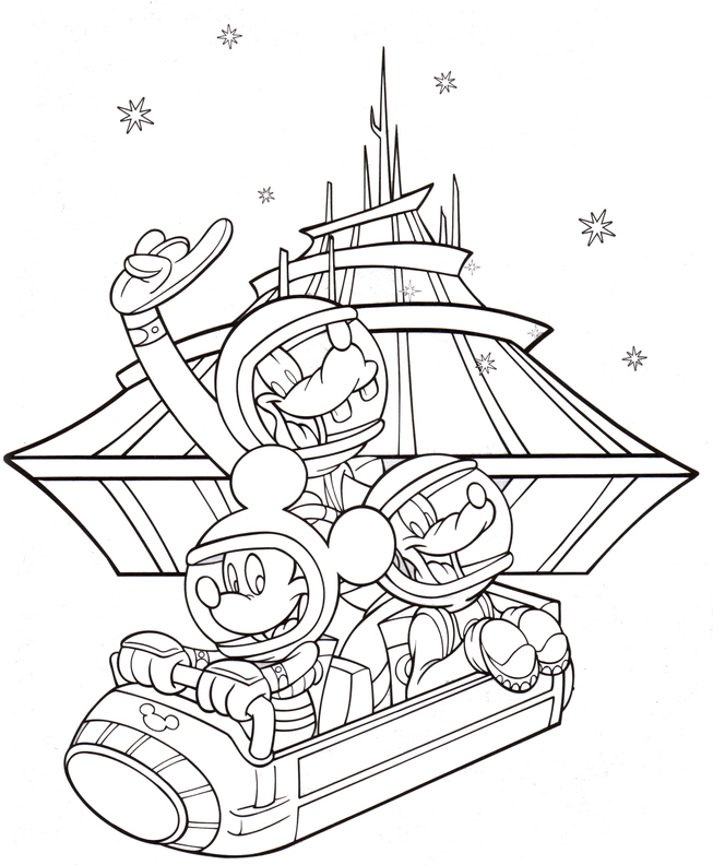 Disney Space Mountain Coloring Pages for Adults