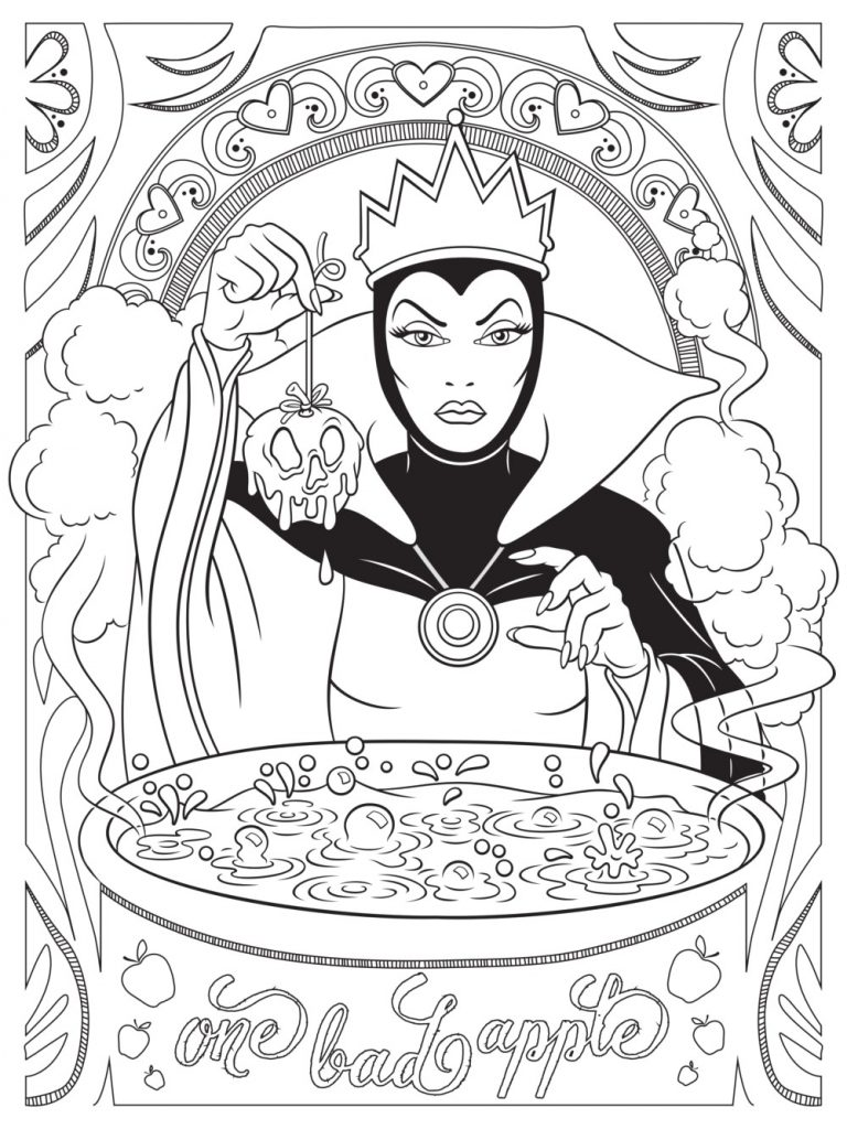 Disney Villain Coloring Pages for Adults