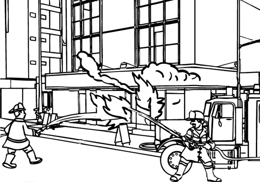 Fire Fighters Coloring Page