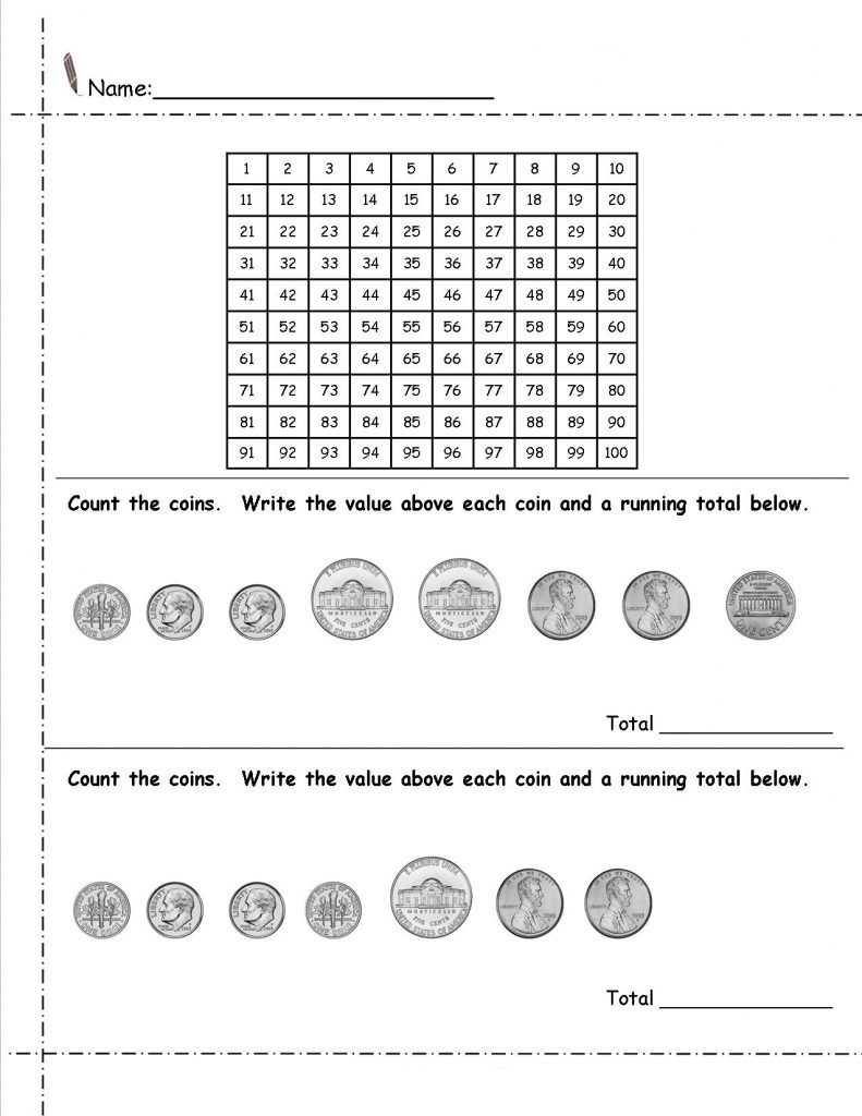 Free 2nd Grade Money Math Worksheets