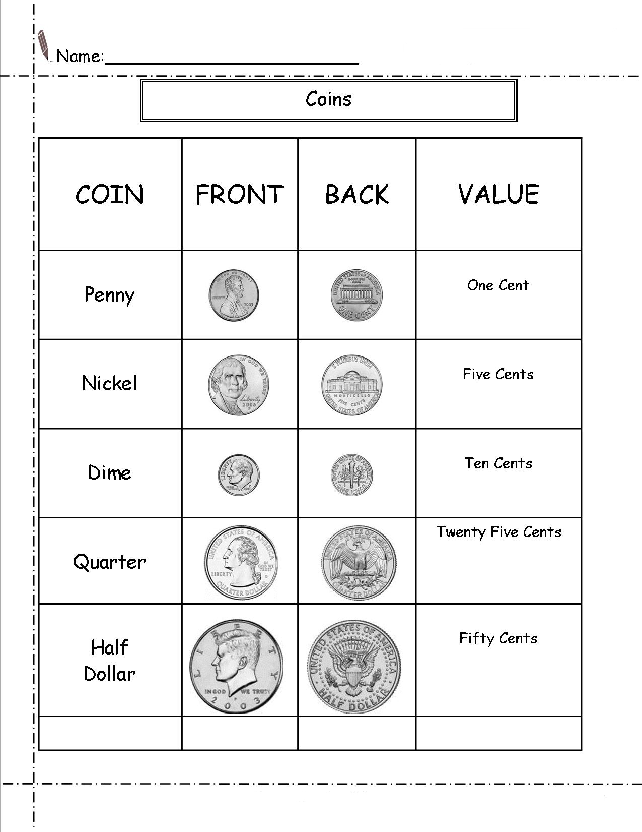 - 2nd Grade Money Worksheets - Best Coloring Pages For Kids
