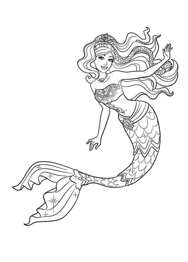 Barbie Mermaid Coloring Pages Best Coloring Pages For Kids