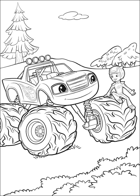 Paw Patrol Kleurplaat Kerst Blaze And The Monster Machines Coloring Pages Best