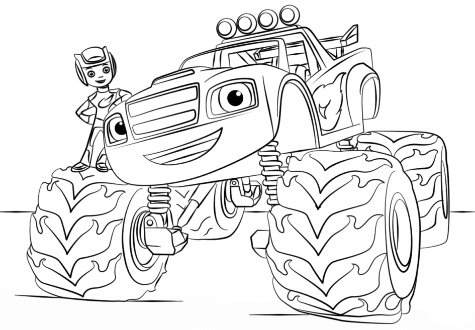 Free Blaze and the Monster Machines Coloring Pages