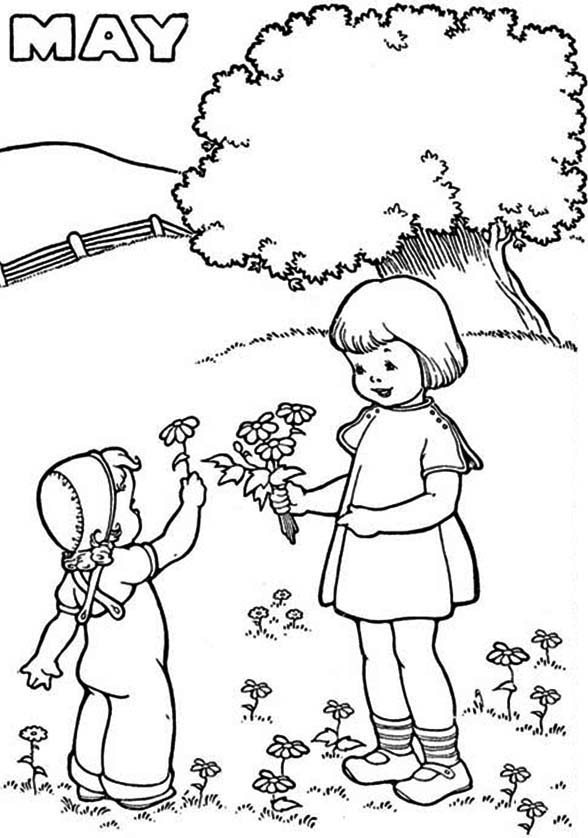 Free May Coloring Pages