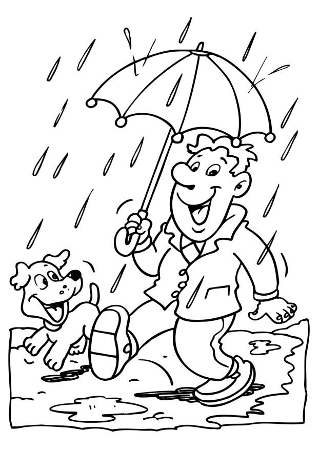 Free Rain Coloring Pages