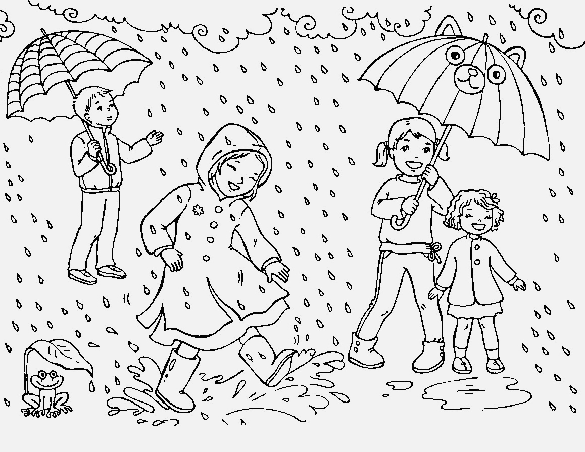 Rain Coloring Pages Best Coloring Pages For Kids