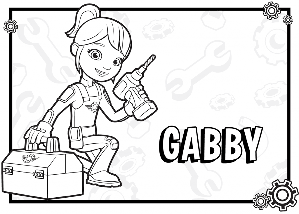 Gabby Blaze and the Monster Machines Coloring Pages