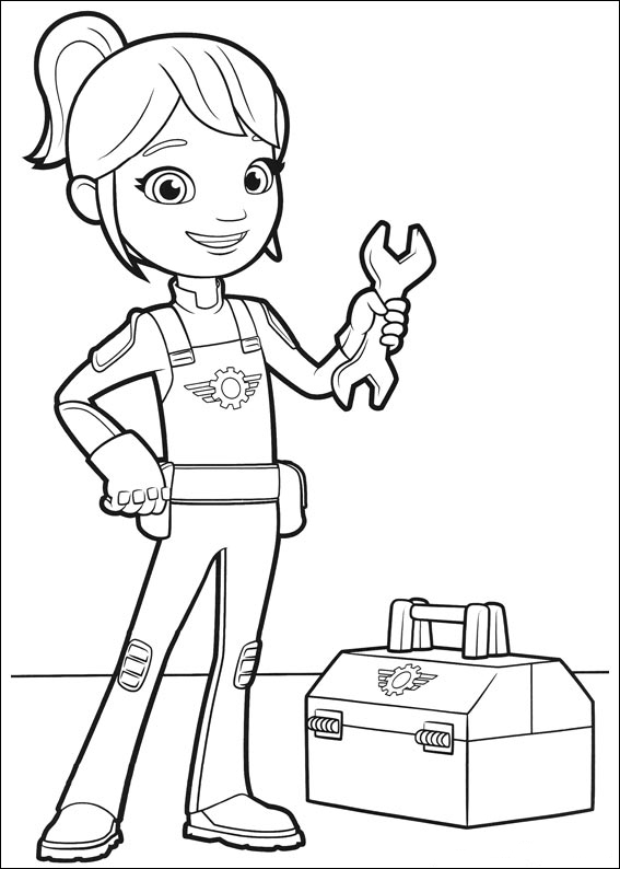 Gabbys Wrench Blaze Coloring Page