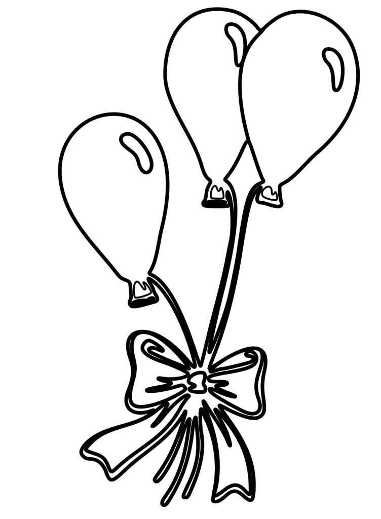 Gift of Balloons Coloring Page