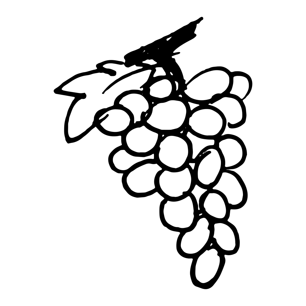 Grapes Printable Coloring Page