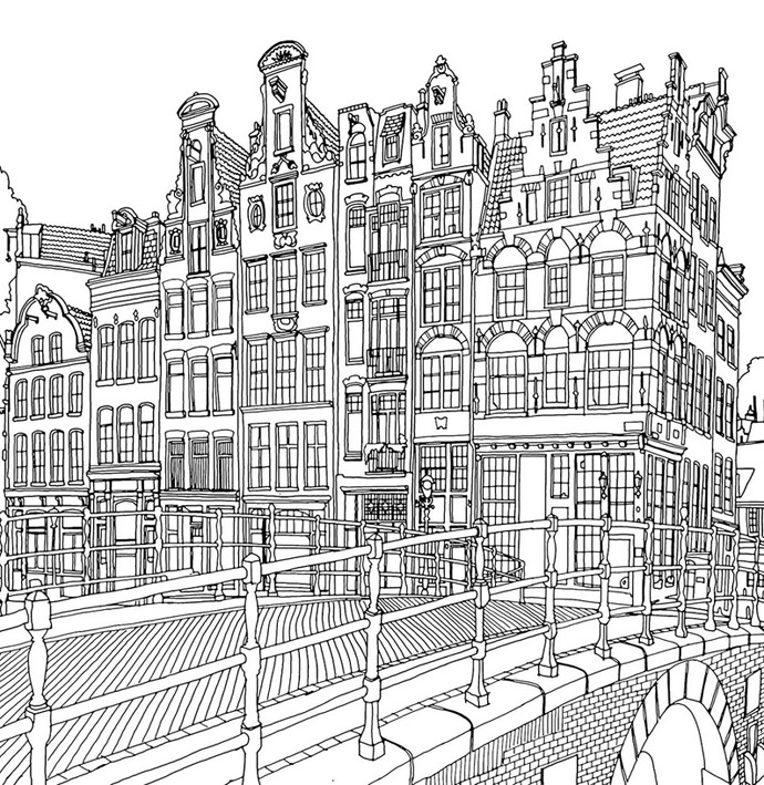 Hard City Coloring Pages