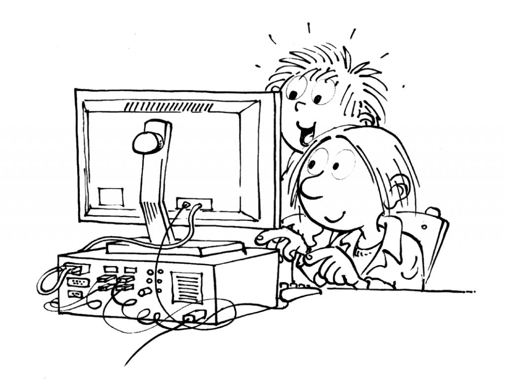 Kids with Computer Coloring Pages