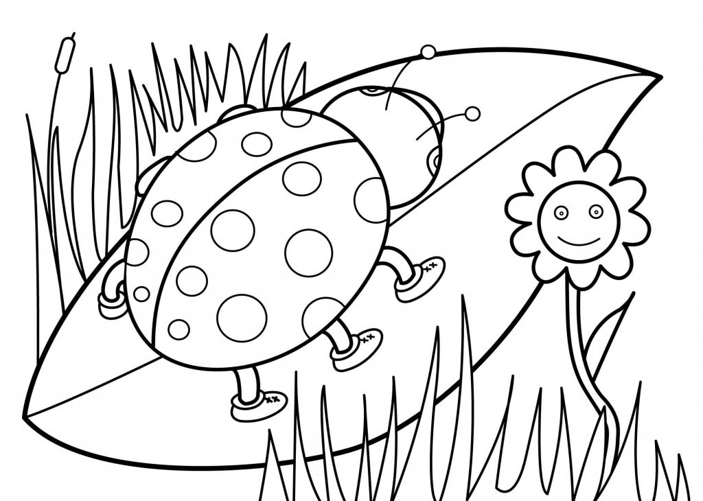 Lady Bug Coloring Page for May