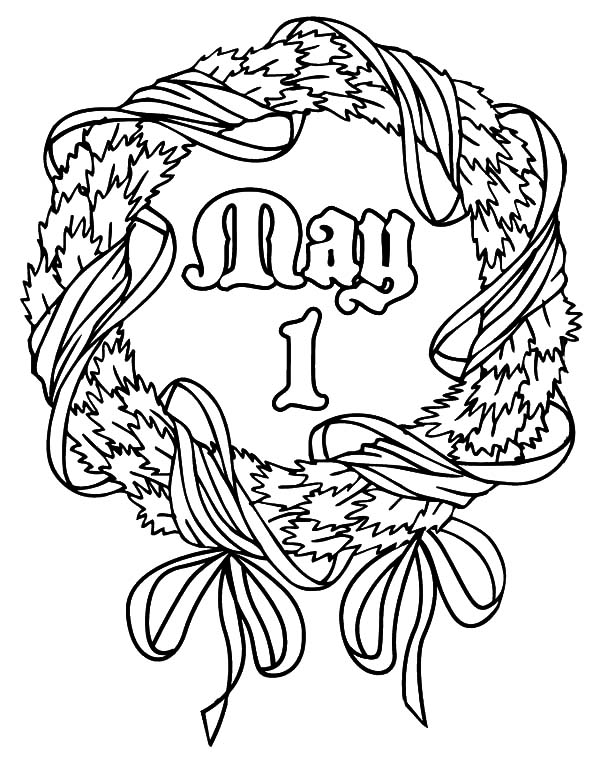 May 1st Coloring Page
