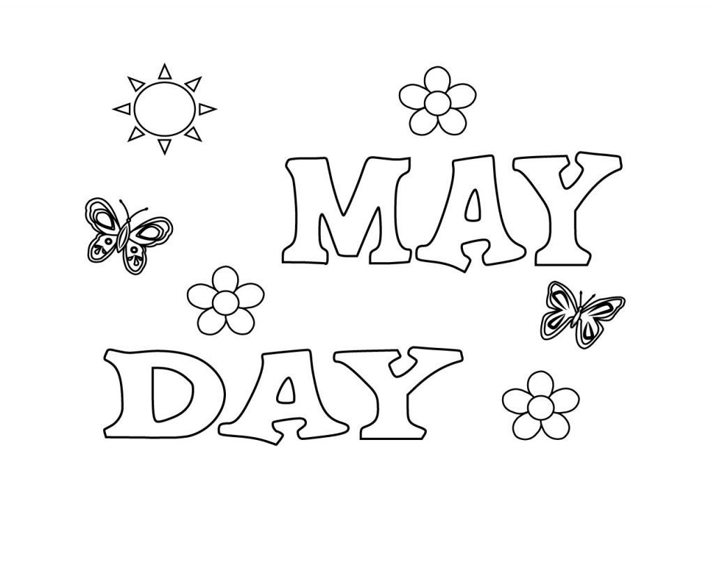 May Day Coloring Pages