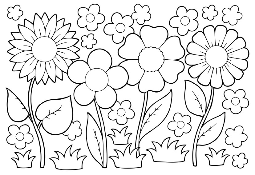 May Flowers Coloring Pages