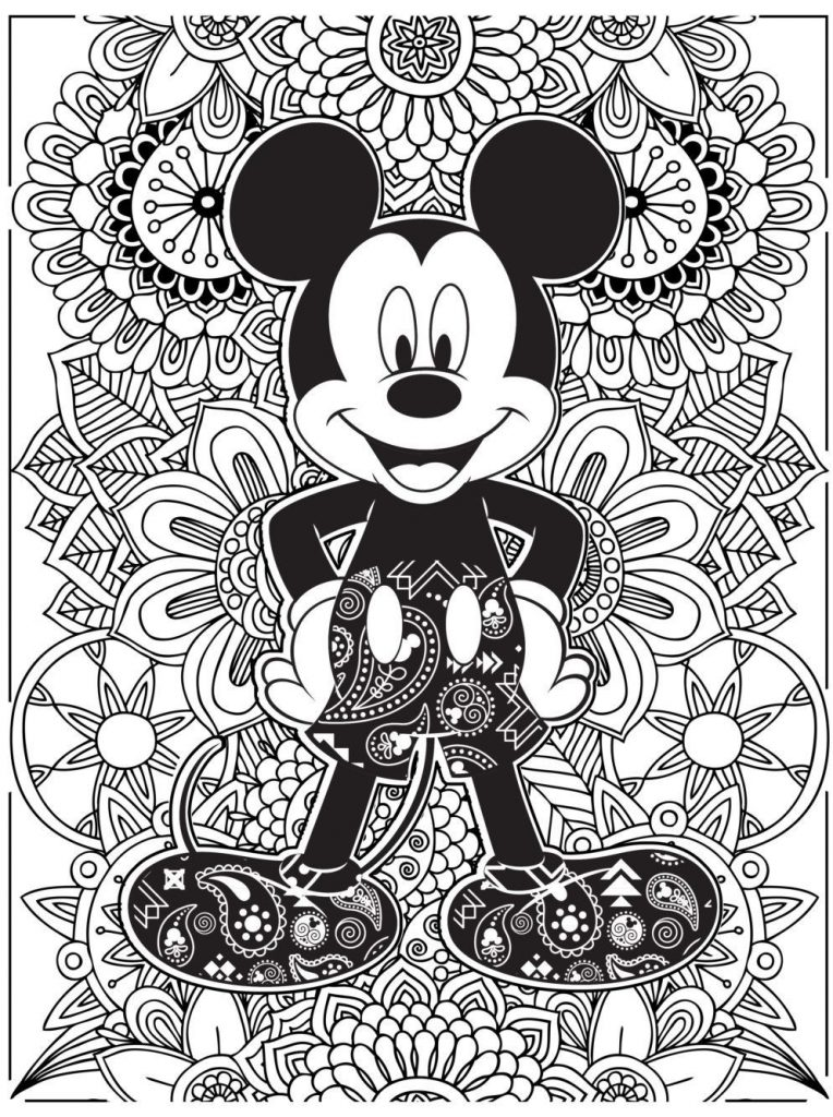 Mickey Mouse Disney Coloring Pages for Adults