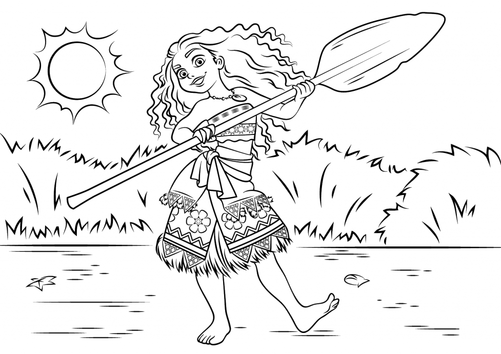 Moana Disney Coloring Pages for Adults