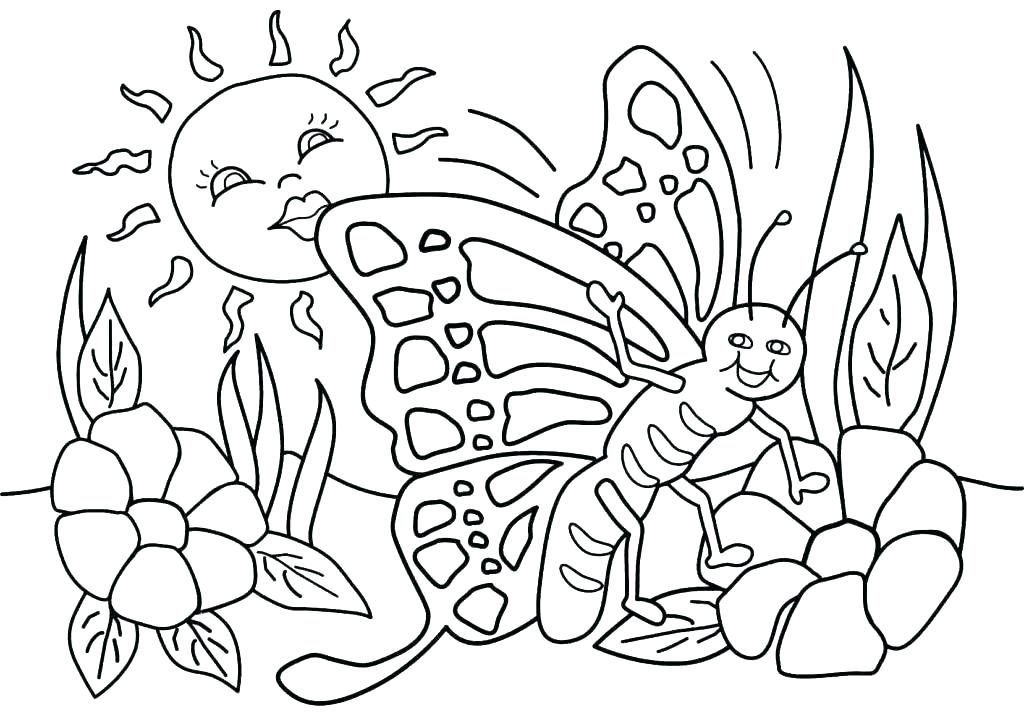 Nature in May Coloring Page