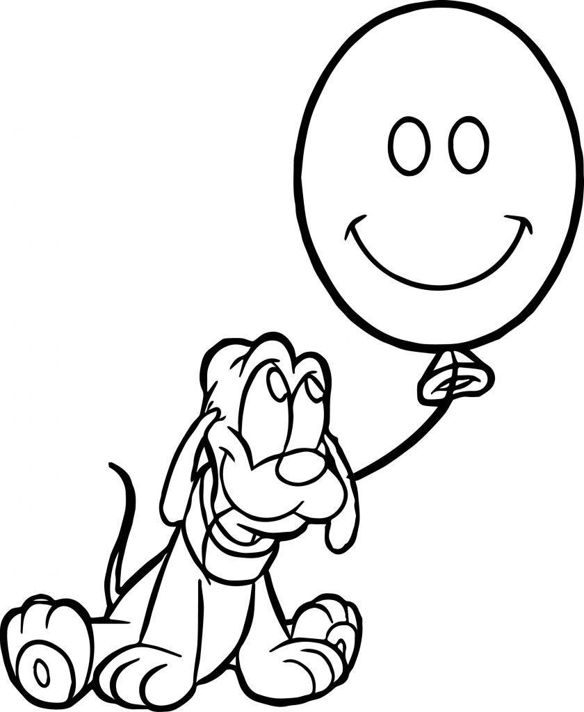 Pluto Balloon Coloring Page