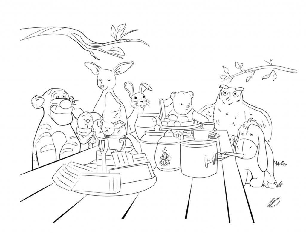 Pooh Disney Coloring Pages for Adults