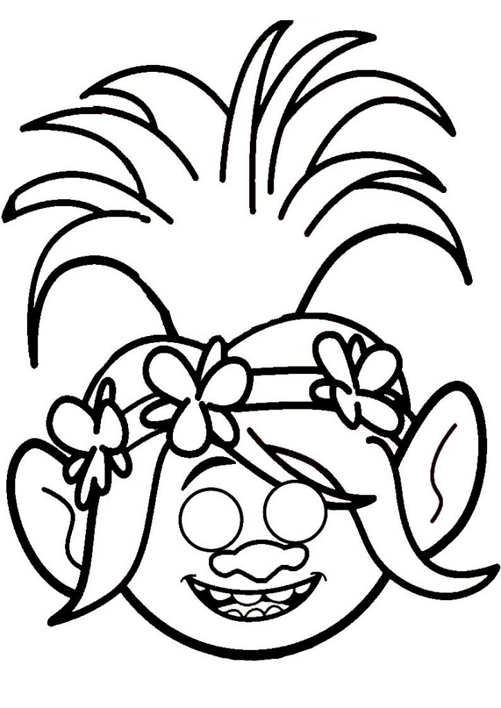 Poppy - Trolls Coloring Pages