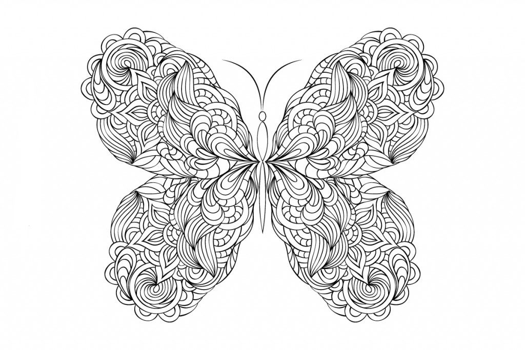 Pretty Butterfly Coloring Pages for Adults