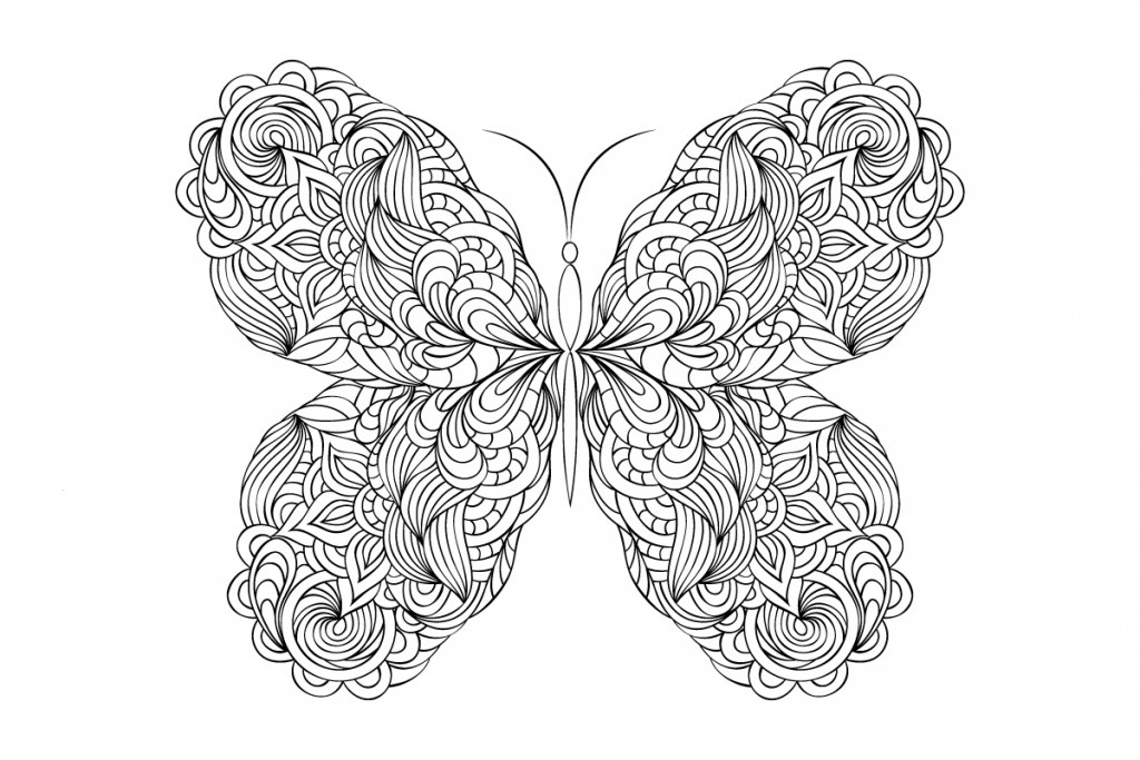 Butterfly Coloring Pages For Adults - Best Coloring Pages For Kids
