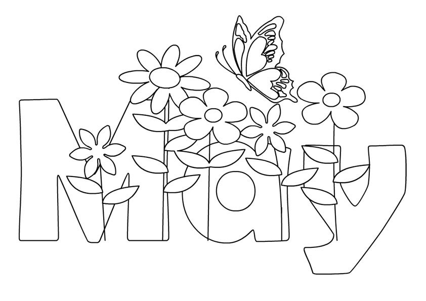 Print May Coloring Pages