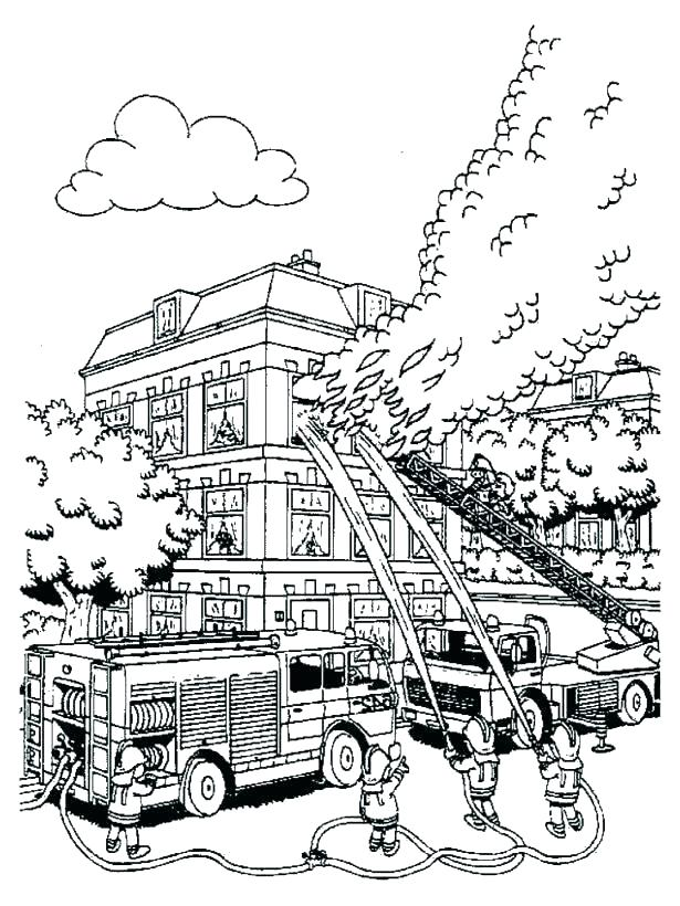 Putting out Fire Coloring Pages