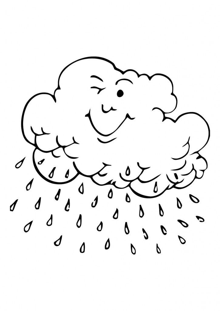 Rain Cloud Coloring Pages