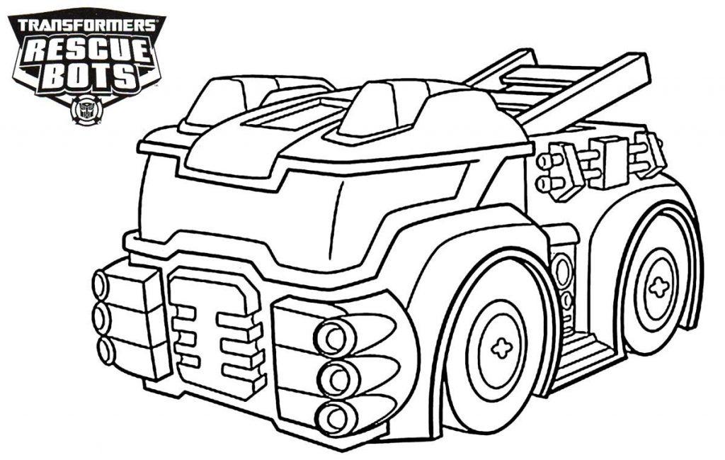 Rescue Bots Heatwave Truck Coloring Pages