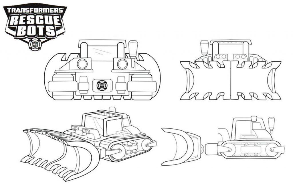 Rescue Bots Vehicle Coloring Pages